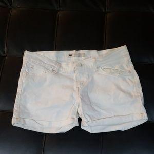 LEVI'S White label Silver stitch tab shorts low